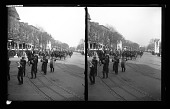 view Porto Rican [sic] Troops passing through the Court of Honor, Roosevelt Inauguration Parade. [Active No. 1666 : stereoscopic photonegative,] digital asset: Porto Rican [sic] Troops passing through the Court of Honor, Roosevelt Inauguration Parade. [Active No. 1666 : stereoscopic photonegative,] 1905.