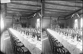 view [Large dining room or banquet room, England, unoccupied. Active no. 1793 : stereo photonegative,] digital asset: [Large dining room or banquet room, England, unoccupied. Active no. 1793 : stereo photonegative,] 1896.