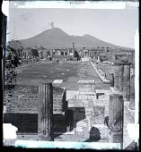 view The Forum of Pompeii and Vesuvius. 2020 Photonegative digital asset: The Forum of Pompeii and Vesuvius. 2020 Photonegative.
