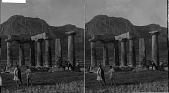 view The Temple, decaying remnant of old Corinth's glory--S. to Arco-Corinth. [Active no. 2444 : stereo photonegative,] digital asset: The Temple, decaying remnant of old Corinth's glory--S. to Arco-Corinth. [Active no. 2444 : stereo photonegative,] 1903.