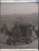 view Monster Japanese siege guns, from which great 11-in. shells destroyed the ships and town at Port Arthur. 4418 Photonegative digital asset: Monster Japanese siege guns, from which great 11-in. shells destroyed the ships and town at Port Arthur. 4418 Photonegative 1904.