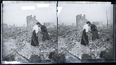 view [Survivors searching in earthquake rubble.] 8269 Photonegative 1906 digital asset number 1