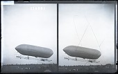 view [Dirigible balloon in flight.] 10229 photonegative digital asset: [Dirigible balloon in flight.] 10229 photonegative 1908