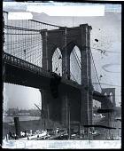 "view ""Brooklyn Bridge, near view, New York, U.S.A. Copyright 1900 by Strohmeyer & Wyman."" [on negative.] Active no. 23169 : photonegative digital asset: ""Brooklyn Bridge, near view, New York, U.S.A. Copyright 1900 by Strohmeyer & Wyman."" [on negative.] Active no. 23169 : photonegative, 1900."
