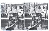 "view ""...[?] Dahomey Village, Exposition 1900, Paris, France. Copyright 1900 by Underwood & Underwood."" on negative. Active no. 23789 : stereo photonegative digital asset: ""...[?] Dahomey Village, Exposition 1900, Paris, France. Copyright 1900 by Underwood & Underwood."" on negative. Active no. 23789 : stereo photonegative, 1900."