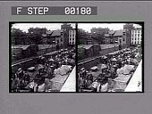 view [Outdoor market, Bloomingdale's, New York. Stereo photonegative.] digital asset: [Outdoor market, Bloomingdale's, New York. Stereo photonegative.]