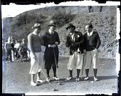 view [Golf foursome with drivers on course.] 1238 Photonegative digital asset: [Golf foursome with drivers on course.] 1238 Photonegative 1927