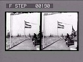 view [Line of ships in New York harbor.] Stereo photonegative digital asset: [Line of ships in New York harbor : Stereoscopic photonegative.]