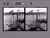 view [Large sailboat at river dock in New York City : stereoscopic photonegative,] digital asset: [Large sailboat at river dock in New York City : stereoscopic photonegative,] 1909.