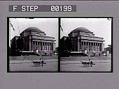 view [Columbia University library building from street in New York City] : stereoscopic photonegative digital asset: [Columbia University library building from street in New York City] : stereoscopic photonegative, 1909.