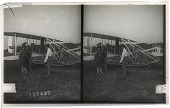 view Wright aeroplane (close view), ready for a flight, Fort Myer, Va. [Active no. 11773 : stereo interpositive.] digital asset: Wright aeroplane (close view), ready for a flight, Fort Myer, Va. [Active no. 11773 : stereo interpositive.]
