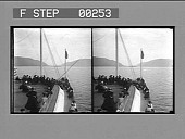 view On the famous Hudson River--entering the Highlands from forward deck of Steamer Albany. [Active no. 13520 : stereo photonegative.] digital asset: On the famous Hudson River--entering the Highlands from forward deck of Steamer Albany. [Active no. 13520 : stereo photonegative.]