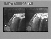 view [Side view of waterfalls. Stereo photonegative,] digital asset: [Side view of waterfalls. Stereo photonegative,] 1906.