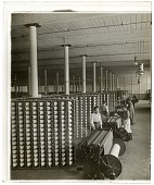 view Warping room in the great Olympian Cotton Mills, Columbia, S.C. [Active no. 5672. Interpositive, non-stereo.] digital asset: Warping room in the great Olympian Cotton Mills, Columbia, S.C. [Active no. 5672. Interpositive, non-stereo.]