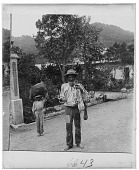 view Human poverty amidst nature's wealth--a beggar at Adjuntas. [Caption No. 6643, on bottom of plate : half-stereo interpositive.] digital asset: Human poverty amidst nature's wealth--a beggar at Adjuntas. [Caption No. 6643, on bottom of plate : half-stereo interpositive.]