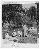 view [Women doing laundry at a river in Puerto Rico. Active no. 6650 : interpositive.] digital asset: [Women doing laundry at a river in Puerto Rico. Active no. 6650 : interpositive.]
