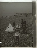 view A boat-builder and boy customers--E. along sea-beach at Dieppe. [Active no. 9623 : interpositive.] digital asset: A boat-builder and boy customers--E. along sea-beach at Dieppe. [Active no. 9623 : interpositive.]