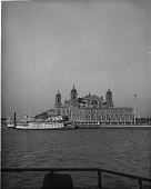 view Where millions enter America, Immigrant Station, Ellis Island. [Active no. 11163 : interpositive] digital asset: Where millions enter America, Immigrant Station, Ellis Island. [Active no. 11163 : interpositive, ca. 1900-1910.]