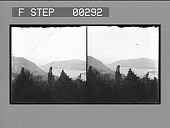 view Up the Hudson, West Point from Fort Putnam. Stereo photonegative digital asset: Up the Hudson, West Point from Fort Putnam. Stereo photonegative, ca. 1900?