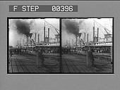 view The steamboat landing, New Orleans, La. [Active no. 806. Stereo photonegative.] digital asset: The steamboat landing, New Orleans, La. [Active no. 806. Stereo photonegative.]