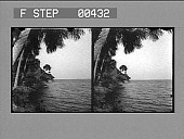 view [Side view of coastline and ocean.] Stereo photonegative digital asset: [Side view of coastline and ocean.] Stereo photonegative.