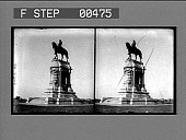 view [Statue of Robert E. Lee on horse. Stereo photonegative.] digital asset: [Statue of Robert E. Lee on horse. Stereo photonegative.]