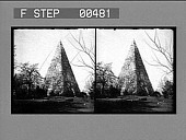 view [Stone pyramid monument. Stereo photonegative.] digital asset number 1