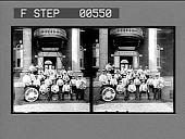 view [Band at White Oak : stereoscopic photonegative.] digital asset: [Band at White Oak : stereoscopic photonegative.]