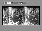 view [Interior view of deep and narrow rocky canyon : stereo photonegative.] digital asset: [Interior view of deep and narrow rocky canyon : stereo photonegative.]