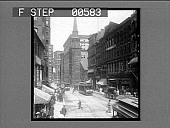 view Washington St., and the old South Meeting House. Active no. 12802 : half-stereo photonegative digital asset: Washington St., and the old South Meeting House. Active no. 12802 : half-stereo photonegative.