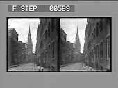 view Christ Church, the Old North Church where Paul Revere's signal lanterns were hung. [Active no. 12809 : stereo photonegative.] digital asset: Christ Church, the Old North Church where Paul Revere's signal lanterns were hung. [Active no. 12809 : stereo photonegative.]