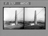 view Bunker Hill Monument, Charlestown and distant harbor. [Caption 12825 : stereo photonegative.] digital asset: Bunker Hill Monument, Charlestown and distant harbor. [Caption 12825 : stereo photonegative.]
