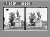 view Minute Man Statue, near the Old Bridge, Concord. Active no. 12838 : stereo photonegative digital asset: Minute Man Statue, near the Old Bridge, Concord. Active no. 12838 : stereo photonegative.