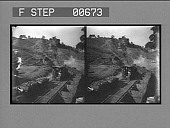 view A loaded coal train and the gravity incline at a coal mine. Active no. 13221 : stereo photonegative digital asset: A loaded coal train and the gravity incline at a coal mine. Active no. 13221 : stereo photonegative, 1906.