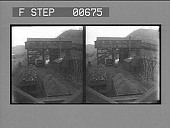 view A coal mine tipple, where coal is weighed and loaded into freight cars. Active no. 13223 : stereo photonegative digital asset: A coal mine tipple, where coal is weighed and loaded into freight cars. Active no. 13223 : stereo photonegative, 1906.