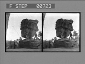 view Balanced Rock--Curious result of erosion, Garden of the Gods. [Active no. 12359 : stereo photonegative,] digital asset: Balanced Rock--Curious result of erosion, Garden of the Gods. [Active no. 12359 : stereo photonegative,] 1904.