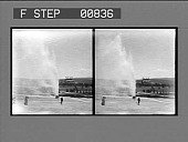 view [Tourists view geyser in action.] photonegative digital asset: [Tourists view geyser in action.] photonegative 1904
