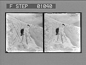 view Shovelling out the famous Cog Railway, 2,000 ft. below the summit, Pike's Peak. [Active no. 12404 : stereo photonegative,] digital asset: Shovelling out the famous Cog Railway, 2,000 ft. below the summit, Pike's Peak. [Active no. 12404 : stereo photonegative,] 1904.