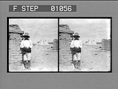 view Old Pueblo Indian and Spanish adobe church, Isleta. [Active no. 12279 : stereo photonegative,] digital asset: Old Pueblo Indian and Spanish adobe church, Isleta. [Active no. 12279 : stereo photonegative,] 1904.