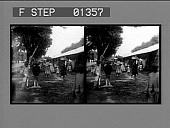 view [Busy street scene. Stereo photonegative.]= digital asset: [Busy street scene. Stereo photonegative.]=