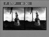 view [Monument in West Indies: stereo photonegative.] digital asset: [Monument in West Indies: stereo photonegative.]