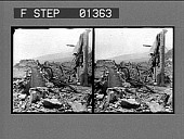 view West Indies [ruined landscape after volcanic eruption of Mt. Pelee] [stereo photonegative] digital asset: West Indies [ruined landscape after volcanic eruption of Mt. Pelee] [stereo photonegative].