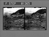 view [Ruins in Martinique after volcanic eruption of Mt. Pelee: stereo photonegative.] digital asset: [Ruins in Martinique after volcanic eruption of Mt. Pelee: stereo photonegative.]