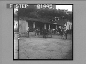 view A provision store with donkey packs and donkey carts departing for the interior. [Active no. 9017 : photonegative.] digital asset: A provision store with donkey packs and donkey carts departing for the interior. [Active no. 9017 : photonegative.]