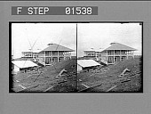 view [Employees' quarters, built by the Government for operatives on the canal, Gatun. Active no. 11511 : stereo photonegative,] digital asset: [Employees' quarters, built by the Government for operatives on the canal, Gatun. Active no. 11511 : stereo photonegative,] 1906.