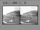 view The Isthmian Canal Commission Hotel at Culebra, where employees on the canal are housed. [Active no. 11524 : stereo photonegative,] digital asset: The Isthmian Canal Commission Hotel at Culebra, where employees on the canal are housed. [Active no. 11524 : stereo photonegative,] 1906.