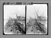 view [Van Dyck Quay and Steen Museum, on banks of the Schelde, Antwerp: 6701 stereo photonegative.] digital asset: [Van Dyck Quay and Steen Museum, on banks of the Schelde, Antwerp: 6701 stereo photonegative.]