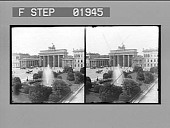 view Brandenburger Gate, Unter den Linden, Berlin. Active no. 2101 : stereo photonegative digital asset: Brandenburger Gate, Unter den Linden, Berlin. Active no. 2101 : stereo photonegative, 1900.