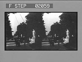 view Sieges Allee, decorated by the present Emperor with statues of Germany's famous men, Thiergarten, Berlin. [Active no. 2118 : stereo photonegative.] digital asset: Sieges Allee, decorated by the present Emperor with statues of Germany's famous men, Thiergarten, Berlin. [Active no. 2118 : stereo photonegative.]