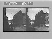 "view [Street scene with ""Kodaks"" sign : stereo photonegative] digital asset: [Street scene with ""Kodaks"" sign : stereo photonegative, ca. 1902.]"